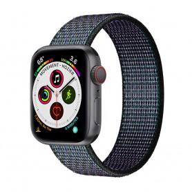 Apple Watch 5 (40mm) Nylon Armband - Glowing Grapes
