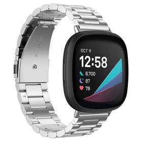Armband Stainless Steel Fitbit Sense - Silver