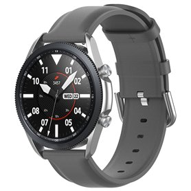 Leather Armband Samsung Galaxy Watch 3 (45mm) - Gray
