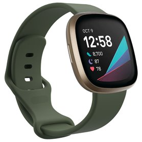 Sport Armband Silicone Fitbit Sense - Army