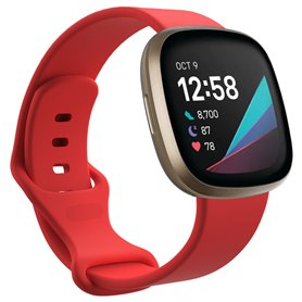 Sport Armband Silicone Fitbit Sense - Red