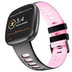 Twin Sport Armband Fitbit Sense - Black/pink