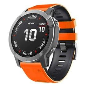 Twin Sport Armband Garmin Fenix 6X / 6X Pro - Orange/black