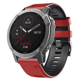 Twin Sport Armband Garmin Fenix 6S - Red/black
