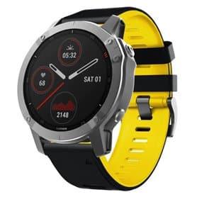 Twin Sport Armband Garmin Fenix 6S - Black/yellow