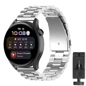 Armband Stainless Steel Huawei Watch 3 - Silver