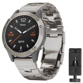 Armband titanium Garmin Fenix 6X  - Silver