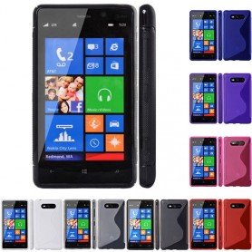 S Line silikon skal Nokia Lumia 820